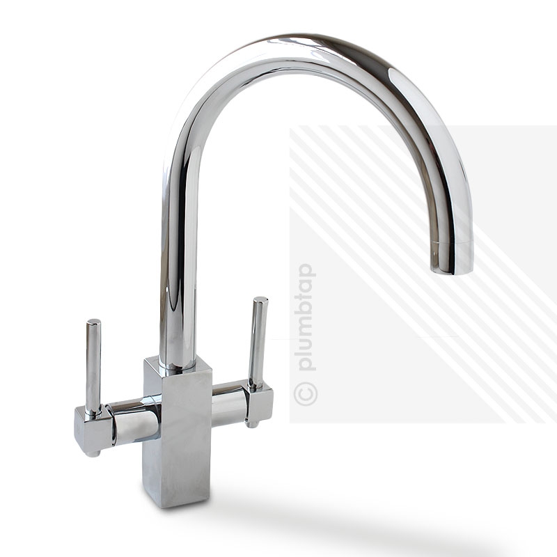 Arian Grace Two Lever Kitchen Mixer Tap Chrome