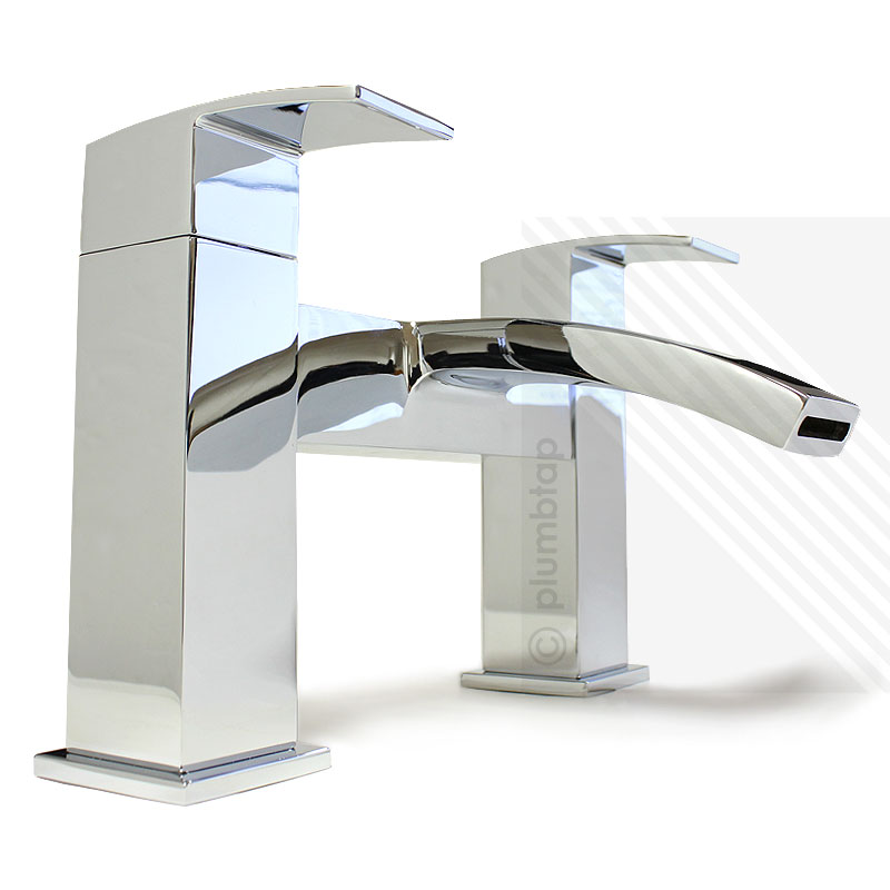 Arian poppy modern curved bathroom bath filler tap in for Bathroom accessories taps