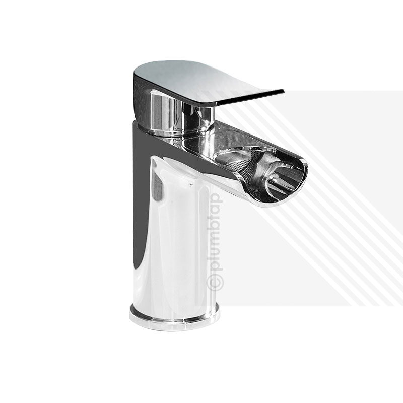 Lou Modern Bathroom Basin Waterfall Mixer Tap With Waste