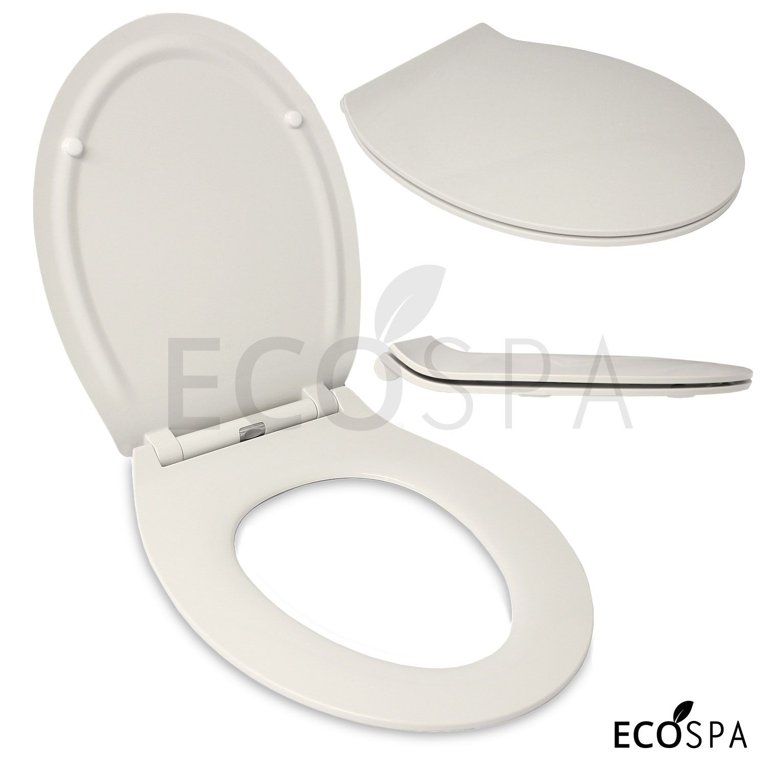 Luxury Oval Design Slimline Toilet Seat With Top Fixing Hinges