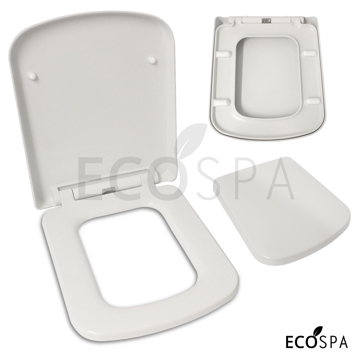 luxury square design toilet seat with top fixing hinges. Black Bedroom Furniture Sets. Home Design Ideas