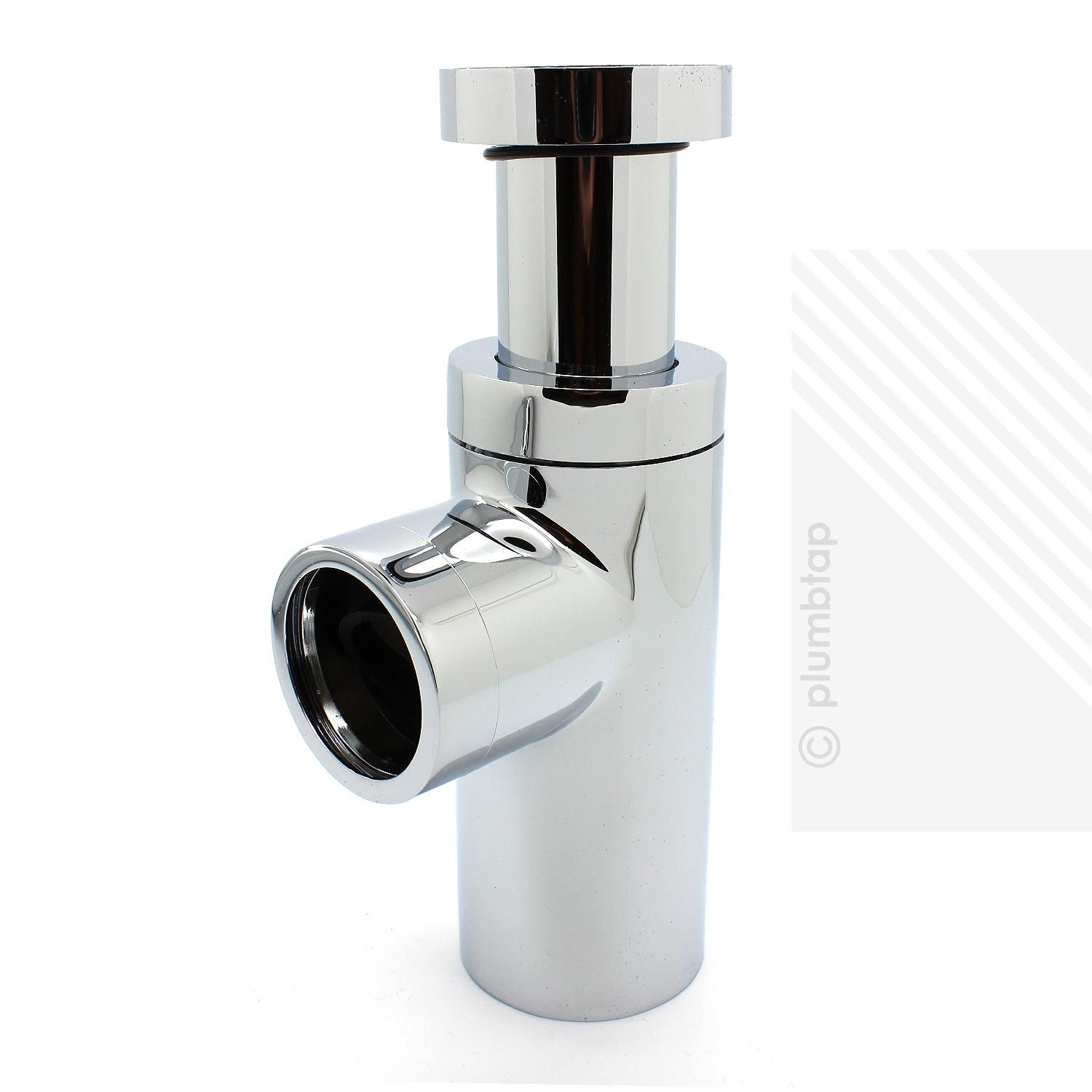 Modern round bathroom basin bottle trap outlet pipe in for Modern trap
