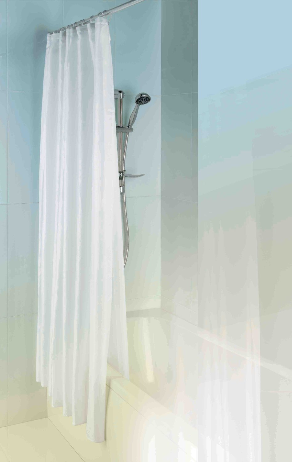MX Shower Curtain Double Layer 1800mm x 1800mm Polyester and Peva ...