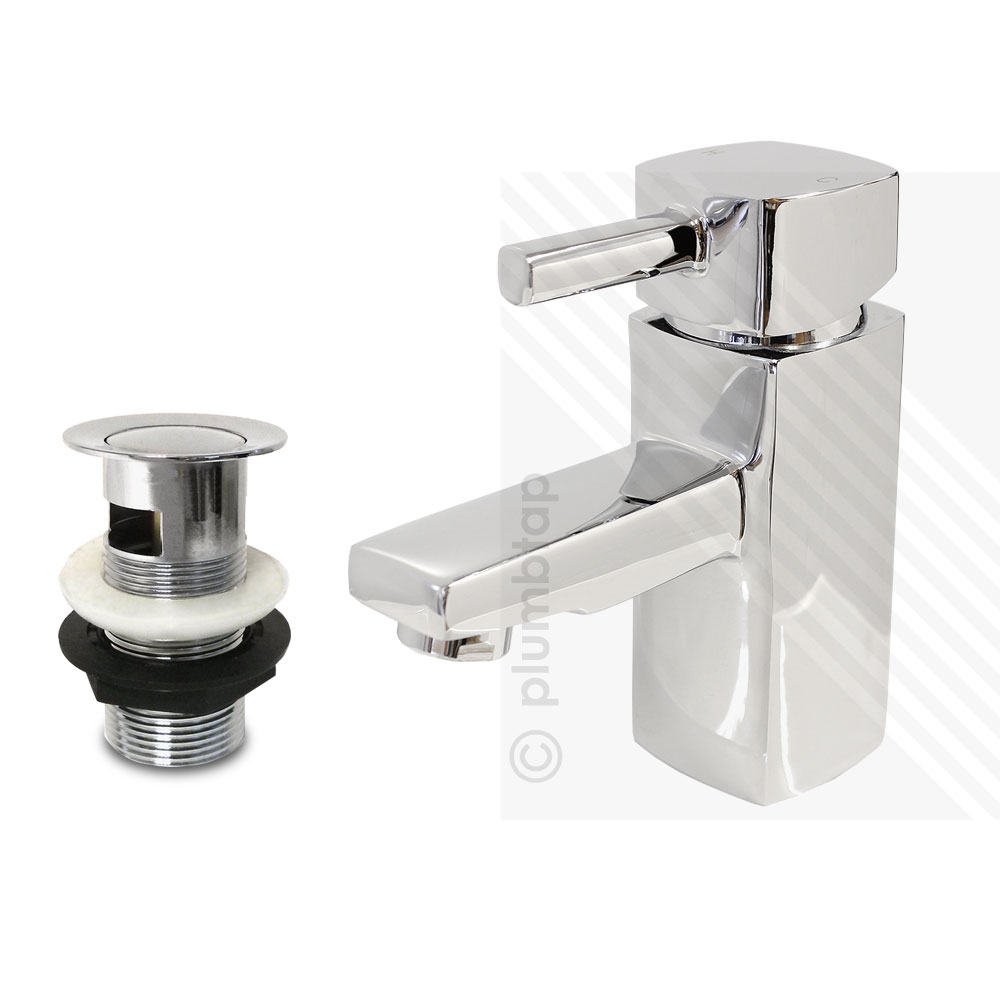 Orion modern bathroom basin mixer tap including pop up waste for Bathroom taps