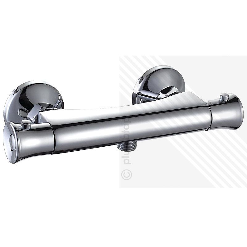 Bronze Thermostatic Shower Mixing Valve: Thermostatic Exposed Shower Bar Mixer Valve Chrome Plated