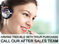 Having problems with a product? Call our dedicated After Sales Team on 01633 876208