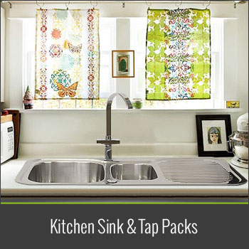 Take a look at our kitchen sink and tap packs