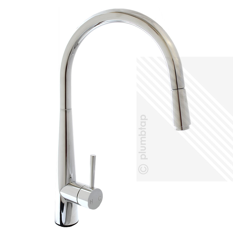 Arian Luna Modern Single Lever Kitchen Pull Out Mixer Tap Chrome