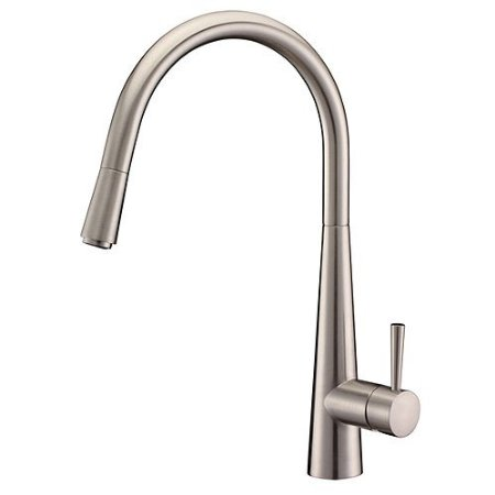 Arian Luna Single Lever Kitchen Tap Brushed Steel