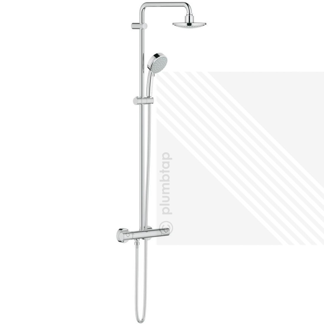 Grohe 26302000 New Tempesta Cosmopolitan Exposed Thermostatic Valve ...