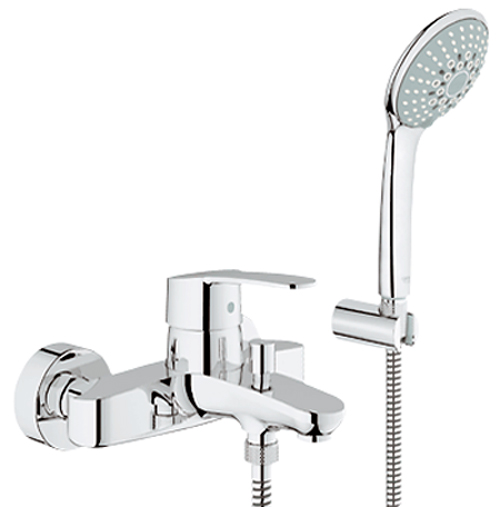 Shower Bath Taps Combined grohe eurostyle cosmopolitan single-lever bath shower mixer 1 2