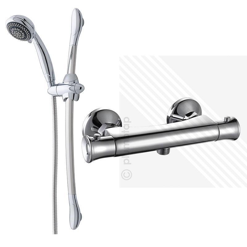 Thermostatic Bar Shower Valve with Fully Adjustable Riser Rail