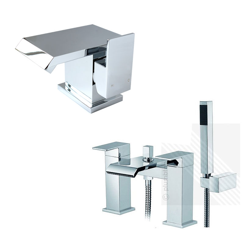 Arian Azara Waterfall Basin Mixer Tap amp Bath Shower
