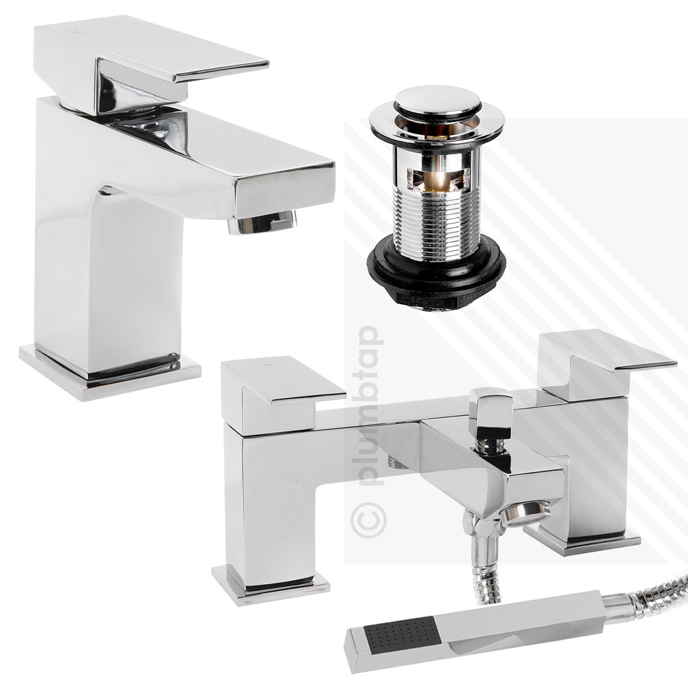 Arian Tulsi Square Bathroom Basin Mixer And Bath Shower