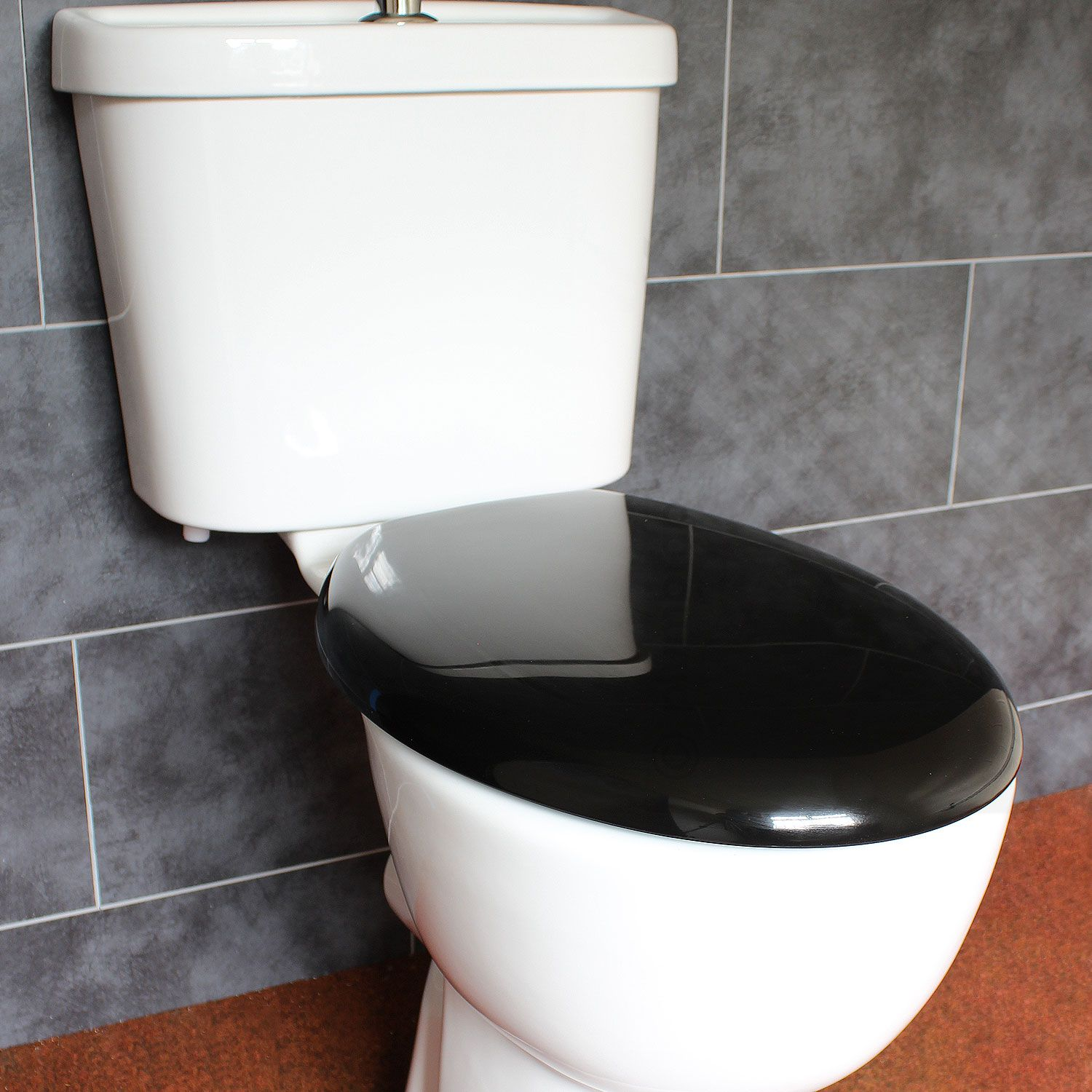best slow close toilet seat. Bathroom Soft Close Black Oval Toilet Seat  Adjustable Top Bottom Fixing Hinges EcoSpa