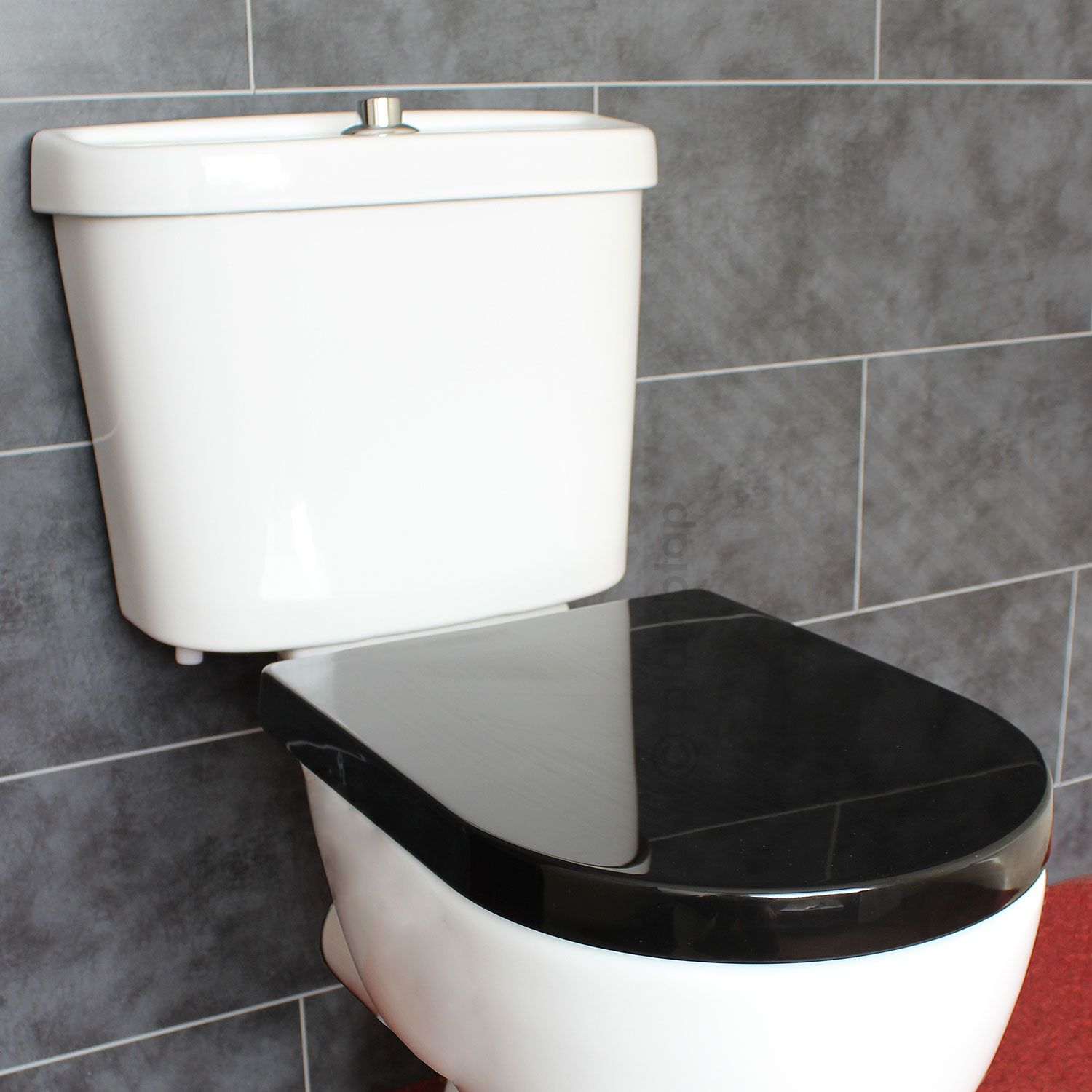 D shape soft close black toilet seat with adjustable top for Toilet inspiration