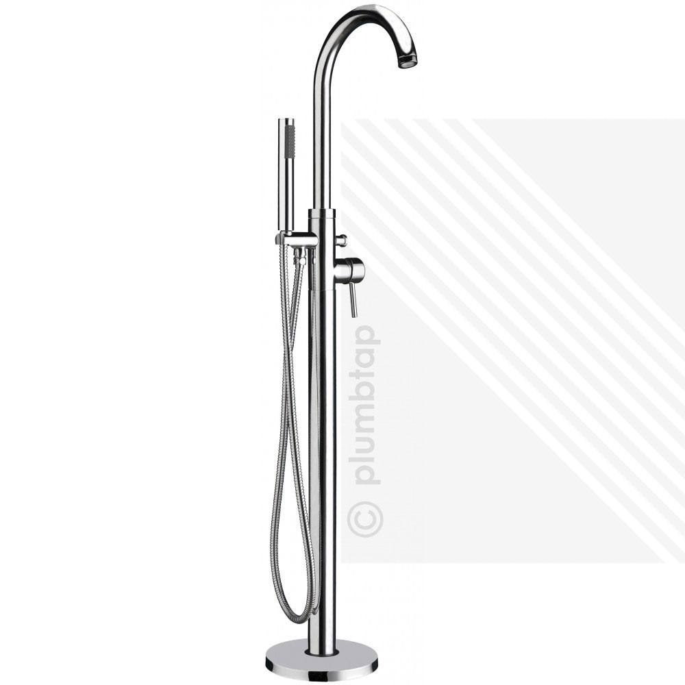 Premier Floor Free Standing Bath Shower Mixer Single Lever Tap Handset  Chrome