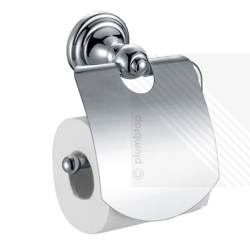 Stylish Toilet Roll Paper Holder Cover Wall Mounted Bathroom Accessory Chrome
