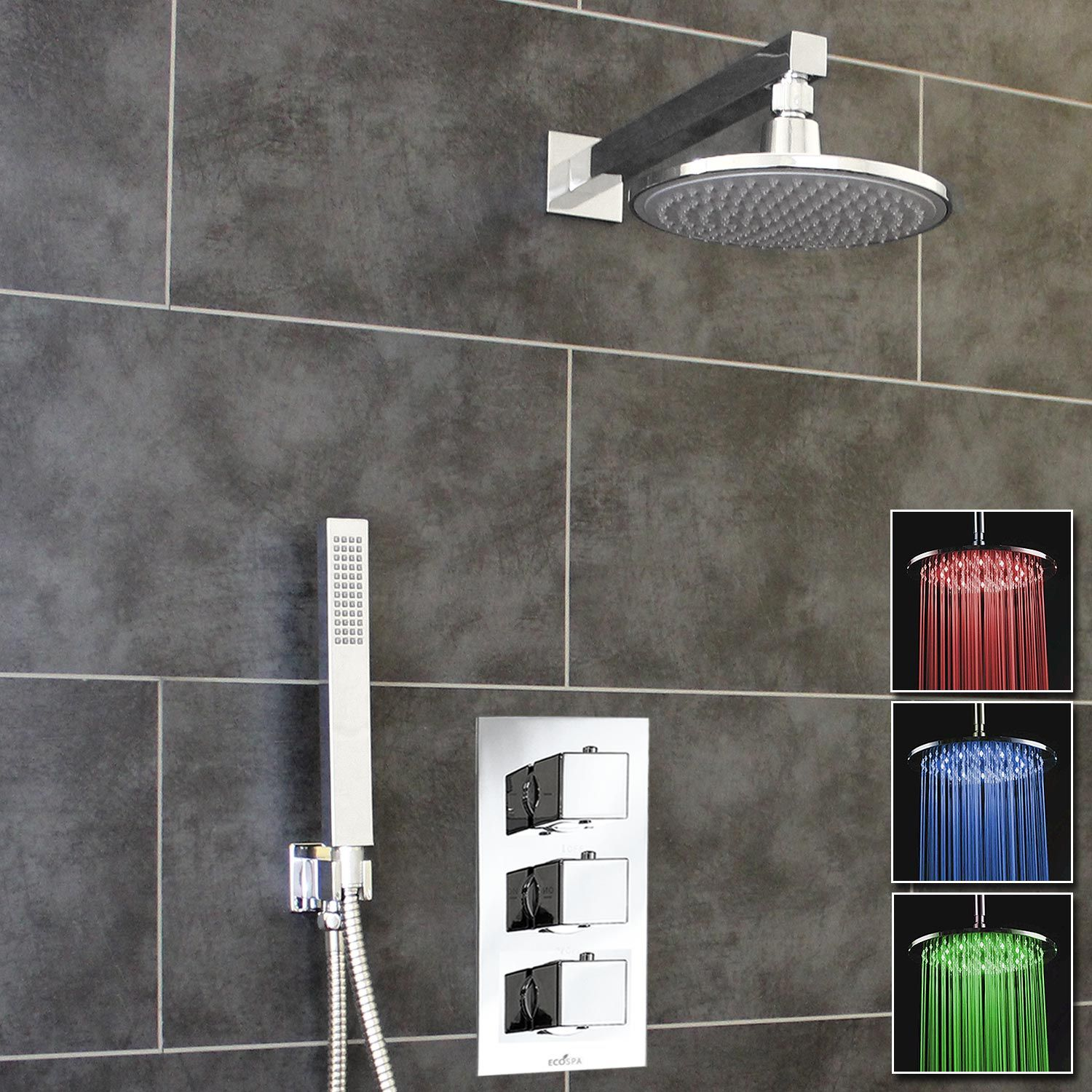 new shower design pin dorfstyle dorf with round ledshower led overhead rail styling head inspiration luminous bathroom