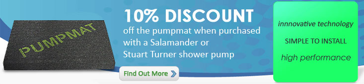 10% Discount on Pumpmats when bought with a Showerpump